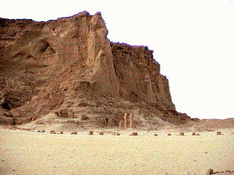 Napata - The last standing pillars of the temple of Amun at the foot of Jebel Barkal