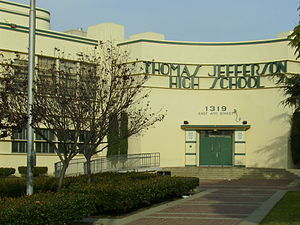 Jefferson High School (Los Angeles) - Image: Jefferson High Front entrance 1 (cropped)