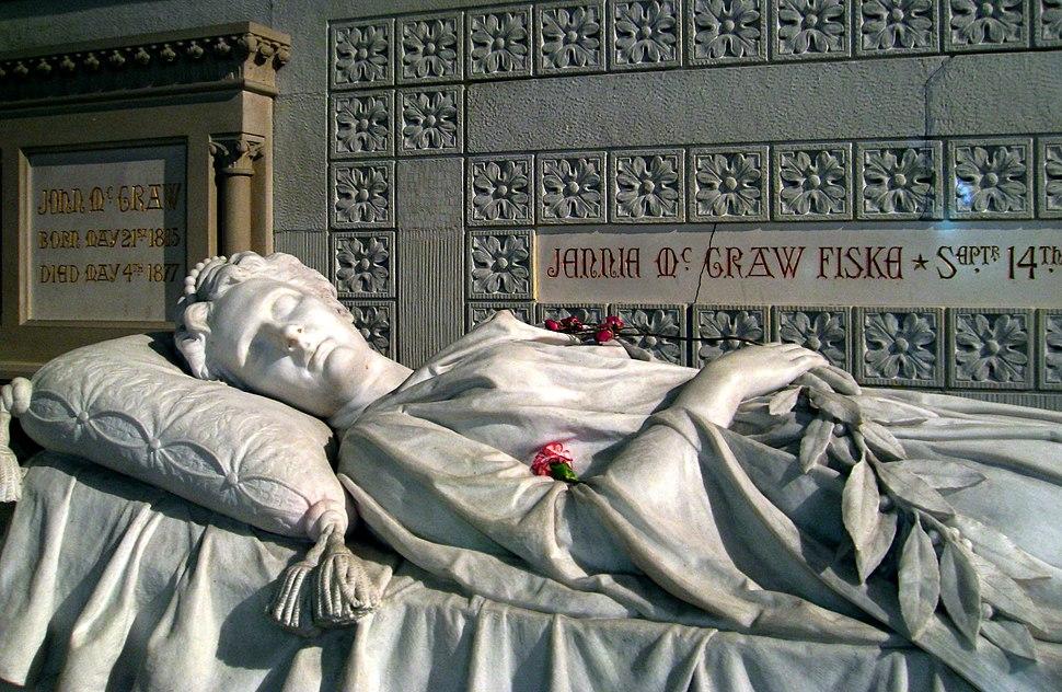 Jennie McGraw sarcophagus, Sage Chapel, Cornell Univ Ithaca NY