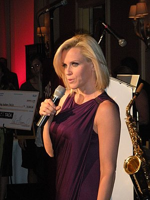 Jenny McCarthy - McCarthy speaking at the 2008 Ante Up For Autism benefit