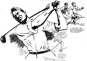 Jess Sweetser - A sketch of Sweetser by syndicated cartoonist Robert W. Edgren in 1922.