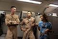 Jessie James speaks with Airmen inside a E-8C JSTARS.jpg
