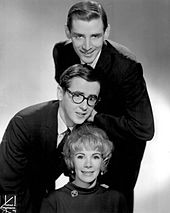 "Publicity photo of the team ""Jim, Jake & Joan"" c. 1960s"
