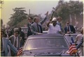 Jimmy Carter and President William Tobert of Liberia wave from their motorcade during a visit to Monrovia, Liberia. - NARA - 178696.tif