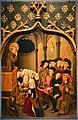 Joan figueira e rafael tomàs, retablo di san bernardino, bernardino avvista l'anima della cugina appena morta durante una predica a milano, 1455-56 (cagliari, pn) 01.jpg