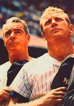 Joe DiMaggio and Mickey Mantle 1970