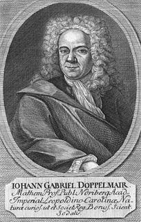 Johann Gabriel Doppelmayr German astronomer