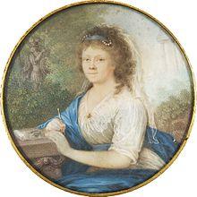 Amalie von Imhoff (1800) – Miniaturporträt von Johann Lorenz Kreul (Quelle: Wikimedia)