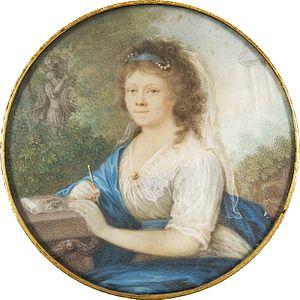 Amalia von Helvig - Amalia von Helvig. Miniature by Johann Lorenz Kreul