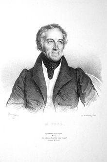Johann Michael Vogl, Lithographie von Josef Kriehuber, 1830 (Quelle: Wikimedia)