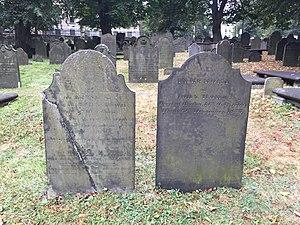 John Howe (loyalist) - John and Mary Howe, Old Burying Ground (Halifax, Nova Scotia)