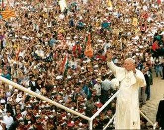 World Youth Day 1991 - Image: John Paul 2 Poland