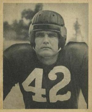 John Adams (offensive lineman) - Adams on a 1948 Bowman football card