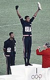 Tommie Smith and John Carlos in 1968