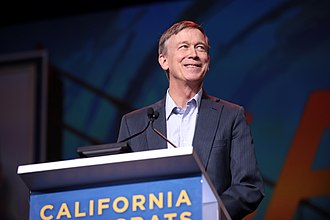 Hickenlooper speaking to the California Democratic Party State Convention in June 2019. John Hickenlooper (48017199683).jpg