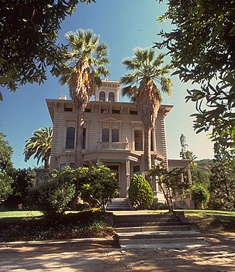 Italianate architecture - The Italianate 1849 John Muir Mansion, in Martinez, California.