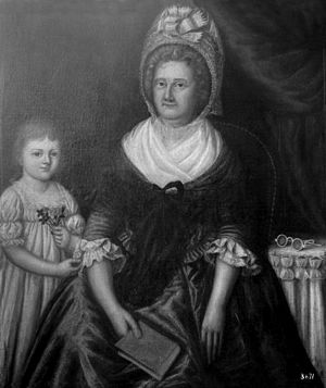 Joshua Johnson (painter) - Mrs. John Moale (Ellin North) and Her Granddaughter, Ellin North Moale. Oil on canvas, 40 1/2 x 35 3/8 in. Photographed in a private collection in Baltimore, Maryland