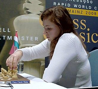 Judit Polgár - Polgár at the Mainz Chess Classic 2008