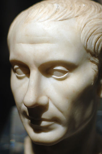Battle of Alesia - A marble bust of Julius Caesar