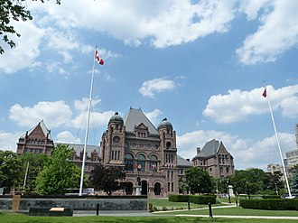 Mike Harris - The Ontario Legislative Building where Harris entered as Ontario Premier in 1995.