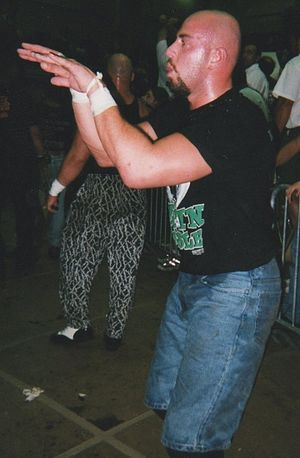 Justin Credible - Polaco at an ECW event in 1998.