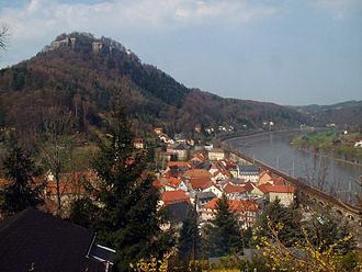 Königstein, Saxony - Image: Königstein, Germany Ortsansicht