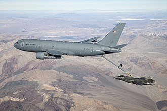 Boeing KC-46 Pegasus - A KC-46A Pegasus connects with an F-35 Lightning II in the skies over California Jan. 22, 2019