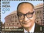 KK Birla 2009 stamp of India.jpg