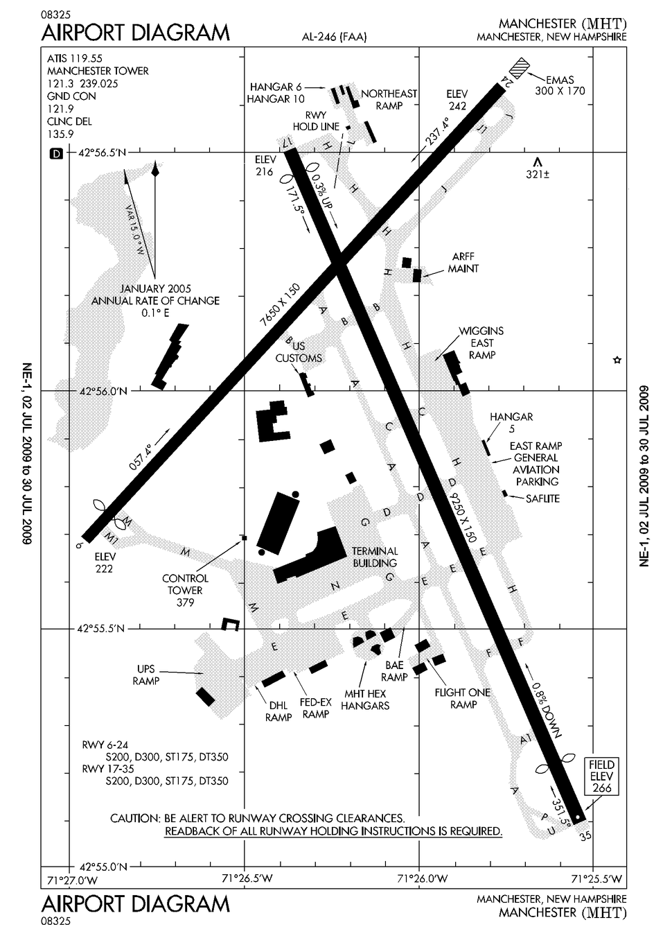 KMHT Airport Diagram Large