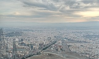 Karaj City in Alborz, Iran