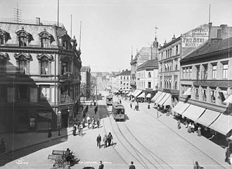 Karl Johans gate - Karl Johans gate in the 1890s
