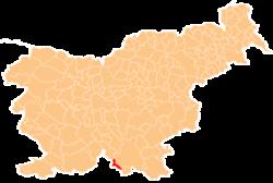 Vị trí của Osilnica ở Slovenia