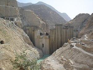 Karun-4 Dam - The dam under construction