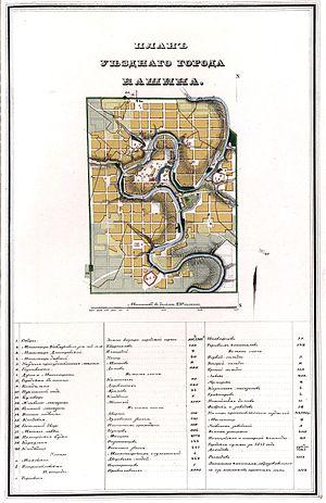План уездного города Кашина