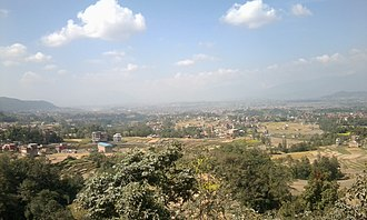 Kathmandu Valley - Kathmandu valley seen from Palanse, Bhaktapur
