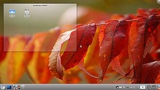 Porteus (operating system) - Image: Kde 4porteus