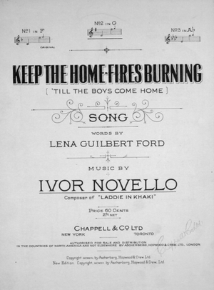 Keep the Home Fires Burning (1914 song) - Image: Keep The Home Fires Burning 1915