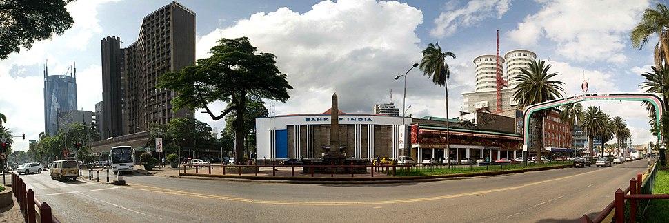 Panorama of Kenyatta Avenue, Nairobi CBD's main street