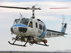 Bell 204/205 - Kern County (California) Fire Department's Bell 205 departs from the Mojave Spaceport