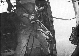 Operation Igloo White - Gravity deployment of a sensor during the Battle of Khe Sanh,1967