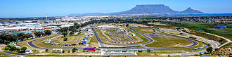Race track - An aerial view of the Killarney motorsport race track in Cape Town, South Africa.