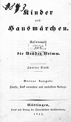 Kinder- und Hausmärchen 1843 5. Auflage Band 2