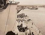 King George V Battleship foredeck Station Pier, Melbourne 1945.jpg