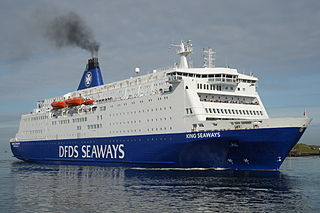 MS <i>King Seaways</i> A cruiseferry operated and owned by the Danish shipping company DFDS Seaways