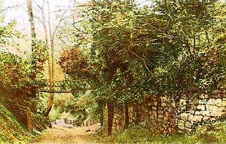 King's Mill, Castle Donington - The chain bridge at kings Mills (taken in 1909)