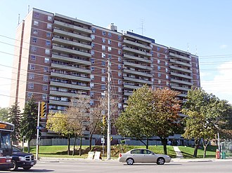 West Hill, Toronto - High-rise apartment buildings were erected in West Hill during the 1970s, largely along Kingston Road.