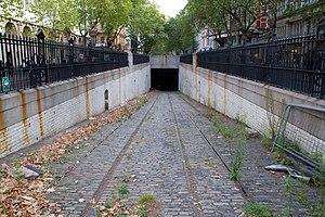 Kingsway tramway subway - Kingsway Subway entrance in Southampton Row