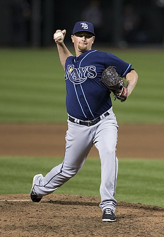 Kirby Yates - Yates pitching for the Tampa Bay Rays in 2014