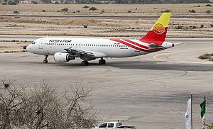 Kish Air - Kish Air Airbus A320 at Mehrabad Airport, Tehran.