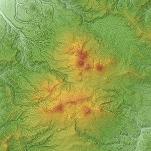 Hakkōda Mountains - Image: Kita Hakkoda Volcano Group & Minami Hakkoda Volcano Group & Hakkoda Caldera SRTM 1